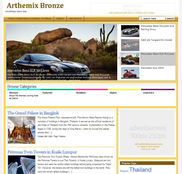 WordPress Theme Arthemix Bronze