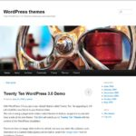 Twenty Eleven theme WordPress 3.2 Demo