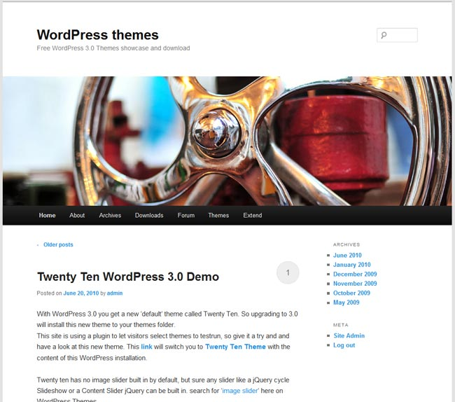 twenty eleven theme WordPress